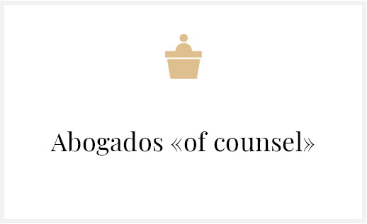 Abogada «of counsel»